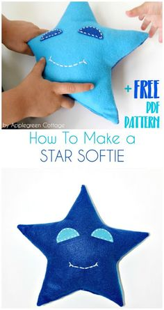 How To Sew a Star Softie (And a Free PDF Pattern) - AppleGreen Cottage