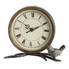 Antiqued Bird Iron Clock  #pier1