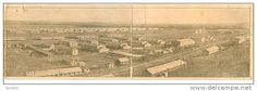 4 panel postcard panorma , CAMP FUNSTON , Kansas , PU-1917 - Delcampe.com
