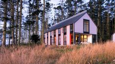 The Roundy Residence is on Whidbey Island, overlooking the historic historic Ebey's Prairie.