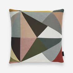 Maharam - Angles Pillow by Paul Smith Triangular Pattern, Design Within Reach, Art Institute Of Chicago, 2020 Design, Cotton Pillow, Commercial Interiors, British Style, Paul Smith, Pillow Design