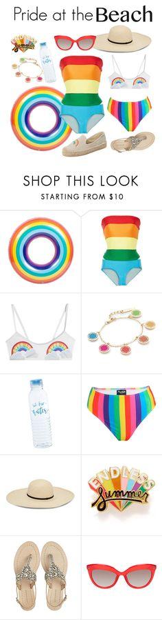 """Pride at the Beach"" by grandduchessalaina ❤ liked on Polyvore featuring Agatha Ruiz de la Prada, Zoe Karssen, Marc Jacobs, ban.do, Antik Batik, Soludos, beachday, pridemonth and lgbtq"