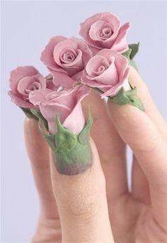 3D nail art ..
