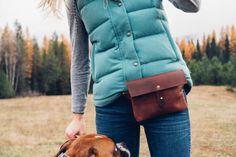 classic festival fanny pack // full-grain brown kodiak leather