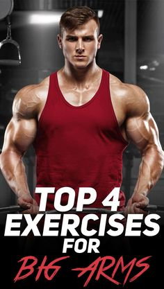 Check out the top 4 workouts for big arms! #fitness #fit #fitfam #exercise #workout #gym