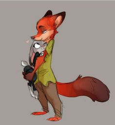 Zootopia - Nick Wilde x Judy Hopps - Wildehopps Disney Zootropolis, Disney Movies To Watch, Arte Disney, Disney Magic, Zootopia Fanart, Zootopia Comic, Kawaii Drawings, Disney Drawings, Nick And Judy Comic