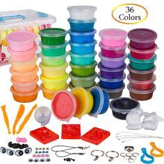 16 PCS Castle Doh Modeling Clay Kids Play Set Magic Air Dry Dough Colorful