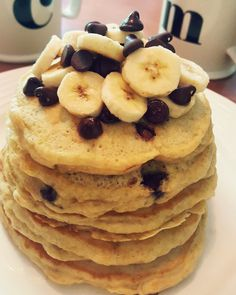 Chocolate chip banana pancake stack [OC] [2988 x 3735] https://i.redd.it/9onfscz54r101.jpg
