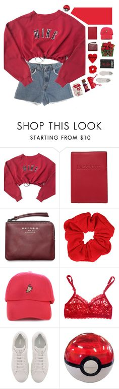 """""""Untitled #1656"""" by my-artsy-soul ❤ liked on Polyvore featuring NIKE, Lodis, Acne Studios, Topshop, AG Adriano Goldschmied, Hanky Panky and Fendi"""