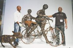 """""""Transforming Arms into Art: Peace-Building in Mozambique"""" - African civil war survivors craft weapons into art : """"I hope our works emphasize the value of life and family bonds. Transforming arms into art is a work to build peace and humanity."""""""