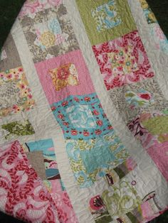 Etsy listing at http://www.etsy.com/listing/156577421/made-to-order-funky-lap-or-baby-quilt-in
