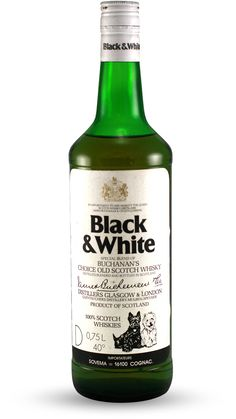 black and white scotch whisky | Scotch bottle