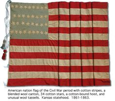 Civil War Era American Flag  1861-1863    I had two great-grandfathers who fought - volunteered - to serve in the Civil War;  one from Ohio and one from Vermont.  I'm proud to carry their ancestry forward.