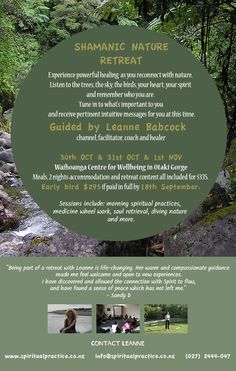 Join Leanne at her Shamanic Nature Retreat.  Find out more . . DrumRoll ... and the beat goes out ... Issue 44 sent Wed 7th October http://conta.cc/1KY7ESK  #DrumRoll #DrumRollPromotions #NewZealand #shamanicRetreat #Leanne