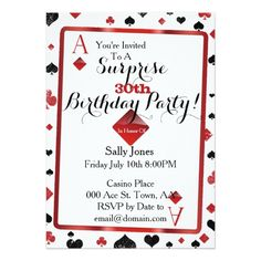 120 best casino birthday party invitations images birthday party
