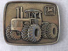 John Deere Belt buckle Advertising Tractor W/ Emblem