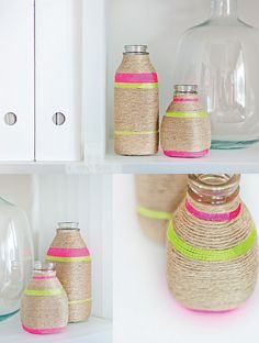 DECORAR BOTELLAS CON CUERDAS