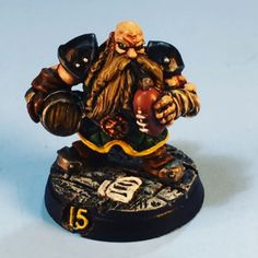 This was a commission that I did for a friend's son. It was his surprise birthday gift. Happy birthday Anthony. I hope you enjoy your team and I hope you win your tournament. #dwarf #dwarves #dwarfteam #bloodbowlteam #bloodbowl #gw #gamesworkshop #miniatu