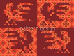 Anitas Ethno Rooster by Irina Arnautu available for download as a vector file on patterndesigns.com Surface Pattern Design, Vector Pattern, Vector File, Birthday Wishes, Rooster, Patterns, Art, Block Prints, Art Background