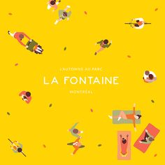 Louis-Hippolyte Affiche / L'automne au parc La Fontaine   design graphic illustration poster affiche gif