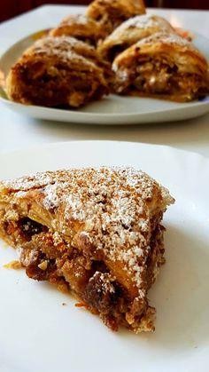 Ρολό σφολιάτας με χαλβά !!!! ~ ΜΑΓΕΙΡΙΚΗ ΚΑΙ ΣΥΝΤΑΓΕΣ 2 Apple Pie, Deserts, Beef, Cooking, Ethnic Recipes, Tarts, Food, Kitchen, Meat