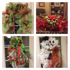 Wreaths Garlands and More by HolidazeHomeDecor on Etsy