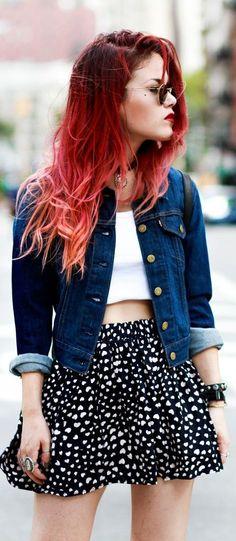 perfecto look para verano #skaterskirt #sunglasses