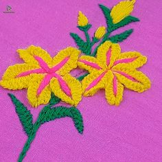 Brazilian Embroidery Stitches, Hand Embroidery Videos, Embroidery Stitches Tutorial, Learn Embroidery, Hand Embroidery Flower Designs, Embroidery Flowers Pattern, Creative Embroidery, Ribbon Embroidery, Diy Bordados
