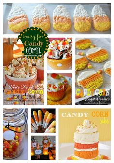 Crazy for Candy Corn Roundup Halloween Goodies, Halloween Snacks, Halloween Season, Holidays Halloween, Happy Halloween, Halloween Party, Fall Treats, Holiday Treats, Holiday Fun