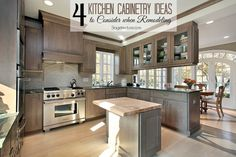 4 Kitchen Design Questions to Choose the Perfect Kitchen Cabinets. When selecting cabinets see how style, storage, and other kitchen design tips can help. #kitchen #design #decor http://stagetecture.com/selecting-kitchen-cabinets/