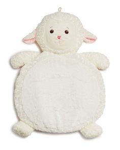 A darling lamb mat that's perfect for playtime. Folds up for easy travel too! | Polyester fibers | Bottom is reinforced with a sturdy, slip-resistant material | Age appropriate for 0+ | Dimensions: 30