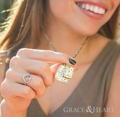 """Grad gifts found: These darlings make the perfect gifts, at special prices this month -- and they even come in gorgeous gift wrap!  mygraceandheart.com/susanalexander  Save the Date charm (2016-2019) $29 Ethos pendant (Hope or Love) $29  Metamorphosis pyrite/brass chain $39 (18"""") / $69 (28"""") Cross Your Heart ring (sizes 6-9) $39"""