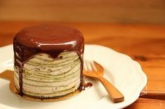 mini mille crepe cake