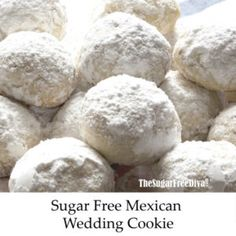 This and delicious recipe for Sugar Free Mexican Wedding Cookies is a standard holiday season choice. AKA Russian Tea, polvorones, and Snowball . Sugar Free Cookie Recipes, Sugar Free Pumpkin Pie, Sugar Free Deserts, Sugar Free Baking, Sugar Free Treats, Sugar Free Cookies, Almond Cookies, Tea Recipes, Cookies