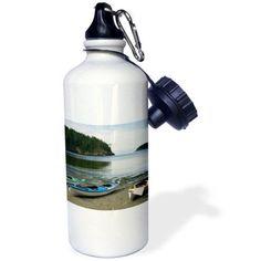 3dRose WA, Deception Pass SP, Kayaks near Bowmans Bay - US48 TDR0242 - Trish Drury, Sports Water Bottle, 21oz