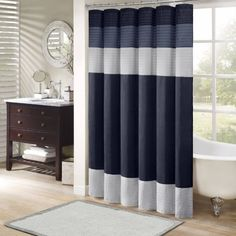 Home Essence Salem Polyester Shower Curtain   Walmart.com