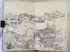 What to always draw during a stay at hotel.  #sketch #drawing #urbansketch #usk #city #cityscape