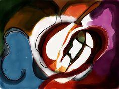 Peintures (projets personnels) by Cristina-M. Gouin, via Behance