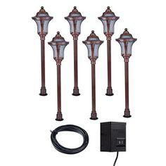 Portfolio�6-Light Copper Low-Voltage Path Light Kit