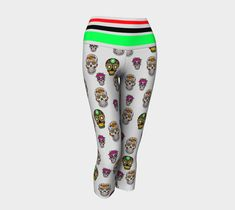 Skeleton Yoga Capri Yoga Capris, Freedom Of Movement, Knitted Fabric, Stretch Fabric, Skeleton, Active Wear, Swimsuits, Sweatpants, Leggings