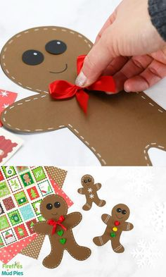 Christmas Crafts For Toddlers, Christmas Crafts For Kids To Make, Christmas Paper Crafts, Toddler Crafts, Preschool Crafts, Kids Christmas, Christmas Cards, Christmas Kitchen, Christmas Cookies