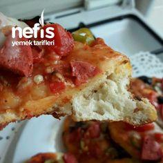 Tavada 5 Dakikada Mini Pizzalar - Nefis Yemek Tarifleri Quiche, Pizza, Breakfast, Food, Morning Coffee, Essen, Quiches, Meals, Yemek