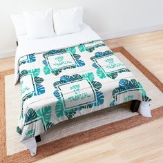 Keep it #tropcal No.2 in BLUE Comforter - Designed byDidi Kasa Blue Comforter, College Dorm Rooms, Square Quilt, Sell Your Art, 2 In, Quilt Patterns, Comforters, I Shop, Blanket