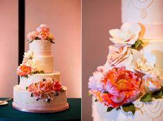Flower-laden cake