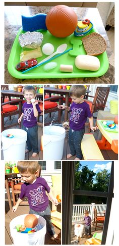 There are only two ways to live your life.: Science Experiments for Two-Year-Olds