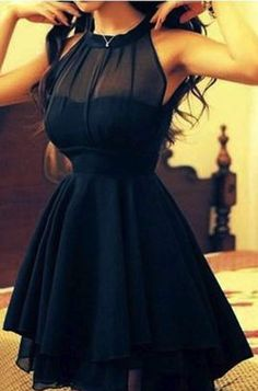 Black dress... would be beautiful in navy!