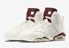 Air Jordan 6 Retro Maroon Color:Off White/New Maroon Style Code:384664-116 Release Date:December 5, 2015 Price:$220