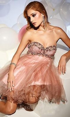 Chiffon and Tulle Dress by Terani Couture Prom Dresses 2013, Dresses Short, Formal Dresses, Dresses Dresses, Bride Dresses, Bridesmaid Dresses, Bridesmaid Ideas, Bridesmaids, Tulle Dress