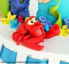 Gumpaste Sebastian (Little Mermaid Cake)