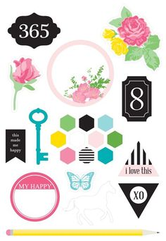 365 Collection - Chickaniddy Crafts Illustration Stickers